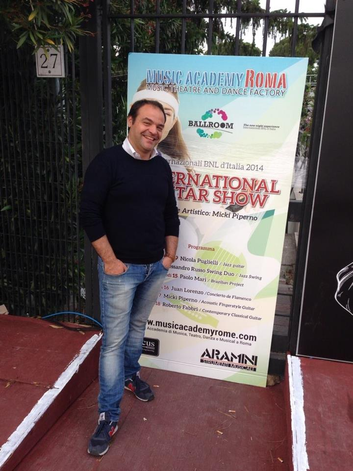 International Guitar Show presso internazionali di tennis 2014